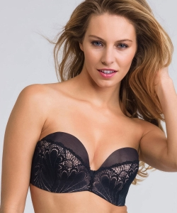 Wonderbra Refined Glamour strapless lace WB00031U black
