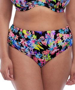 Elomi Swim Electroflower bikini brief black