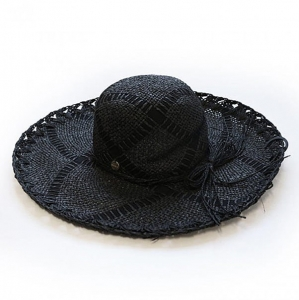 Seafolly 71138-HT Woven Ribbon hat black