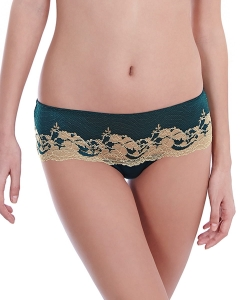 Wacoal Lace Affair tanga forest green/gold