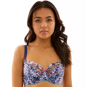 Cleo Minnie biustonosz balconnet navy multi