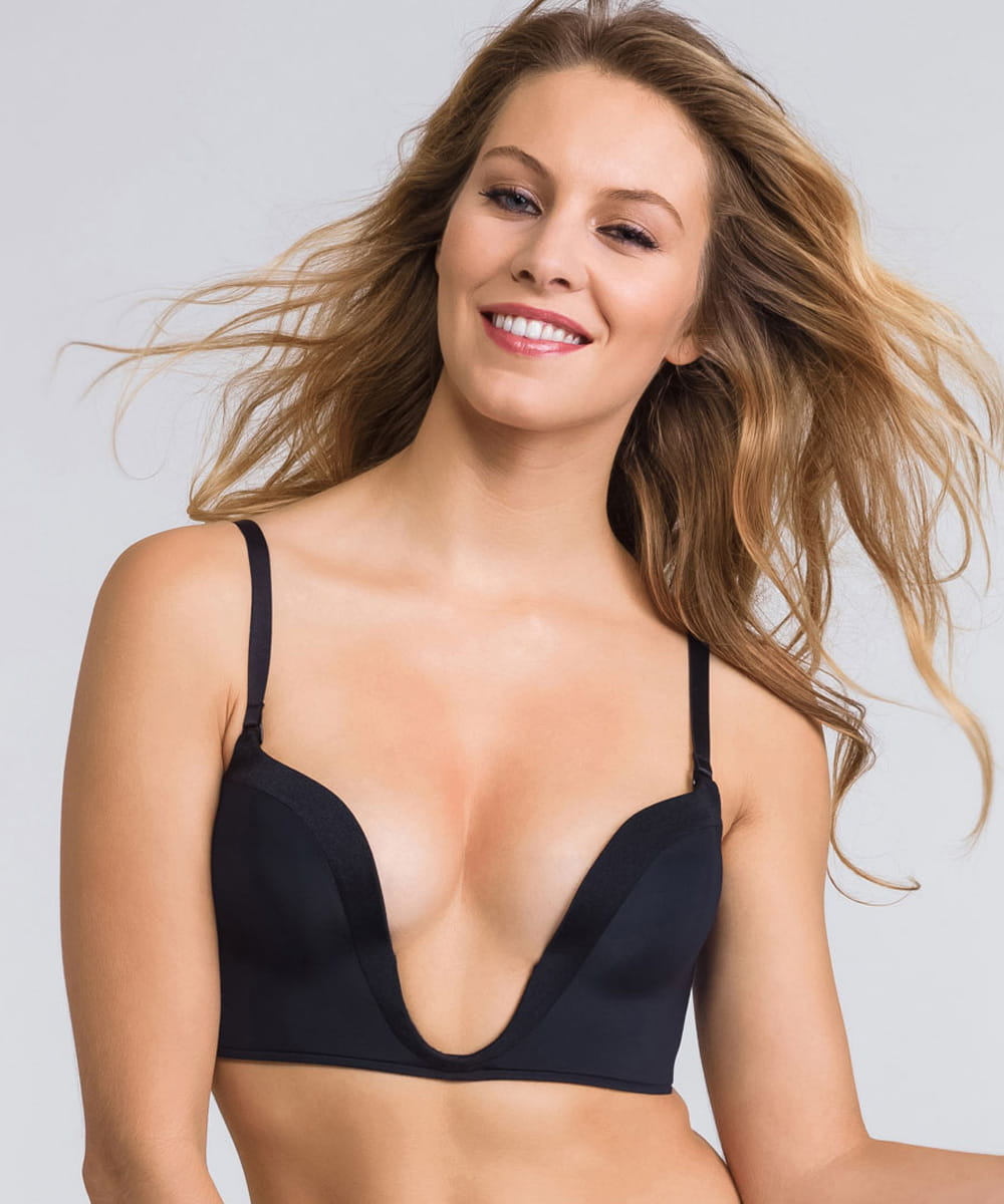 Wonderbra Ultimate deep plunge bra 00j5 czarny