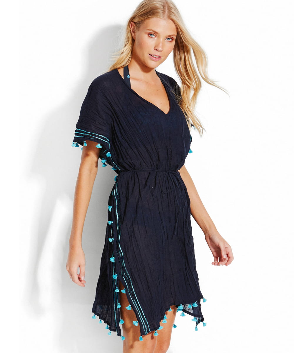 d869b461ee Seafolly Desert Tribe 53131-KA tunika plażowa indigo Christelle ...