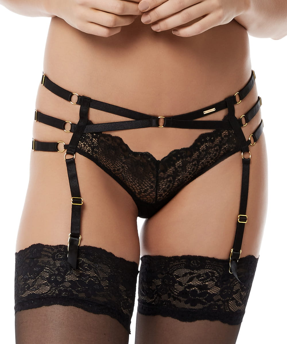 Bluebella Tarla suspender brief czarne