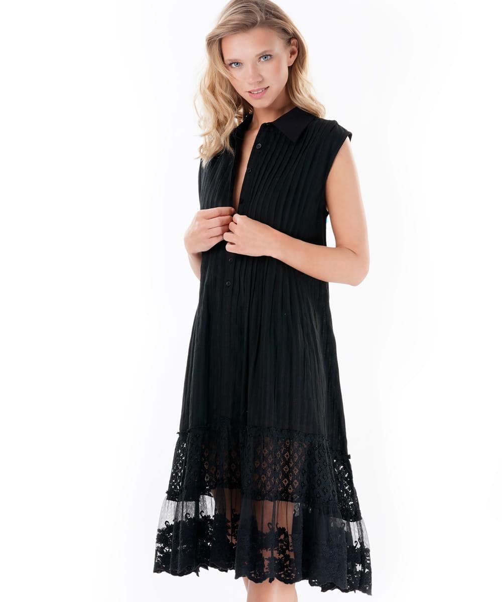 a0aa13ee55 Iconique Frida IC9-013 letnia sukienka czarna Christelle - galeria ...