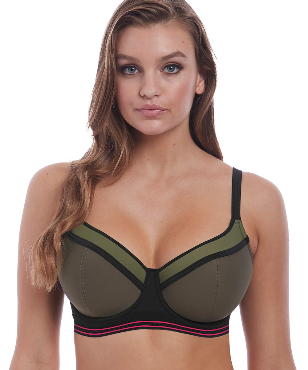Kostium kąpielowy Freya Club Envy sweetheart top khaki