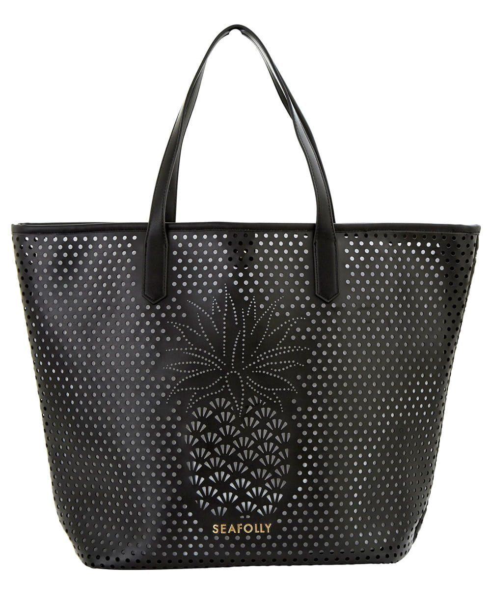 Seafolly Carried Away Pineapple 71377-BG torba plażowa black