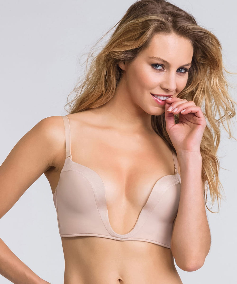 Wonderbra Ultimate deep plunge bra 00J5 beżowy