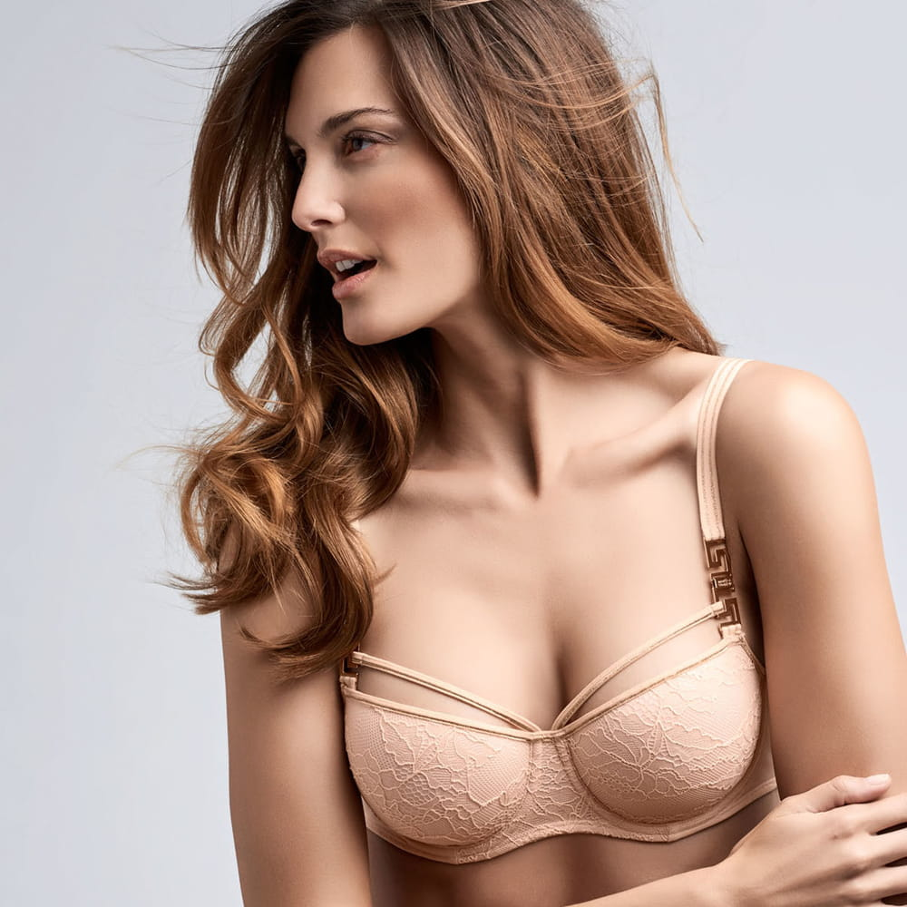Marlies Dekkers Meander padded balcony bra bisque