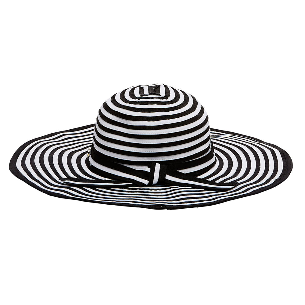 Seafolly 71064-HT Elizabeth hat black white