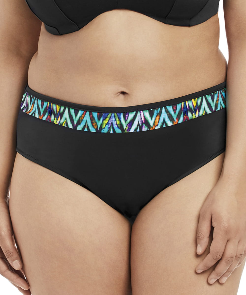 Kostium kąpielowy Elomi Swim Tribal Instincts mid brief black