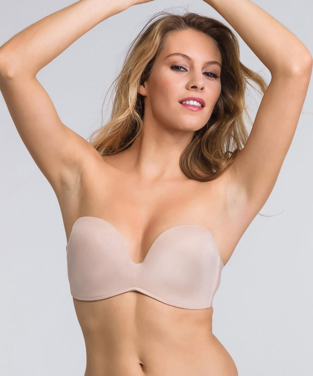Biustonosz Wonderbra Perfect Body  Strapless WB00032D skin
