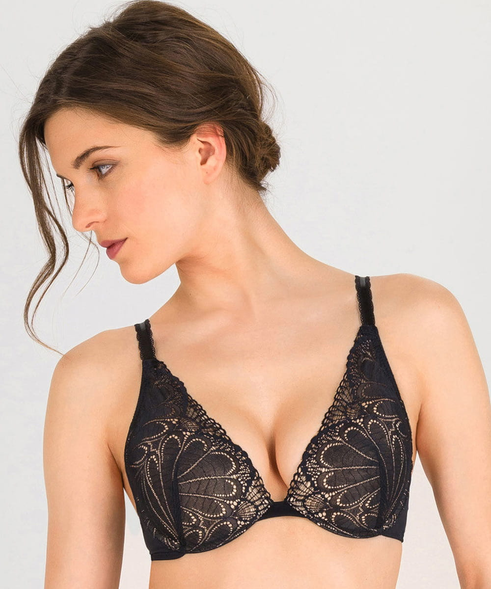 Biustonosz Wonderbra Refined Glamour WB02LN push-up triangle black