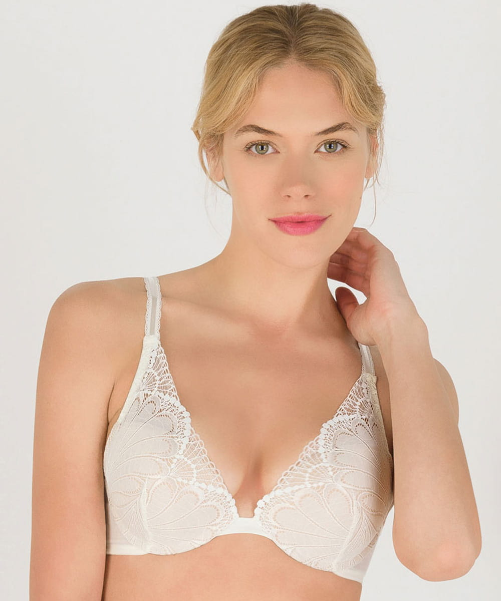 Biustonosz Wonderbra Refined Glamour WB0002LN push-up triangle ivory